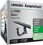 Rameder Komplettsatz, Anhängerkupplung abnehmbar + 13pol Elektrik für Ford KUGA I (113938-07367-1)