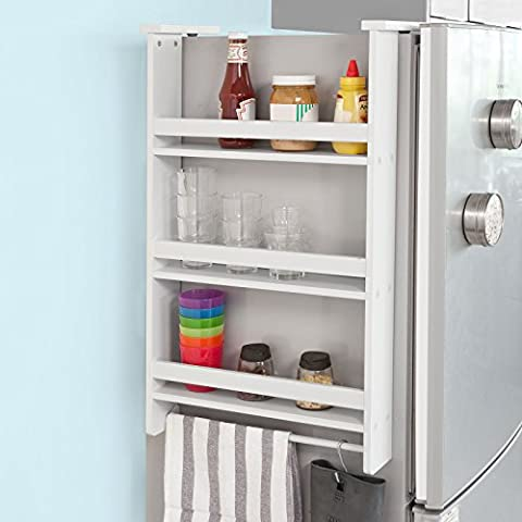 SoBuy® FRG150-W Étagère à suspendre pour réfrigérateur avec ventouses Étagère