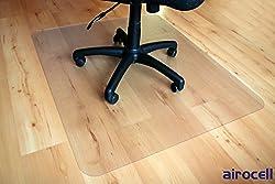 Bodenschutzmatte, PET Airocell, 120 cm x 90 cm, 1,8 mm Dick, mit abgerundeten entgrateten Ecken, rutschfest, transparent für Hartböden, Laminat-Parkett-Venyl-Fliesen. Transparent, Universal