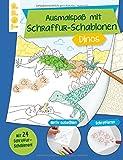 Ausmalspaß mit Schraffur-Schablonen Dinos: Mit 24 tollen Schraffurmustern