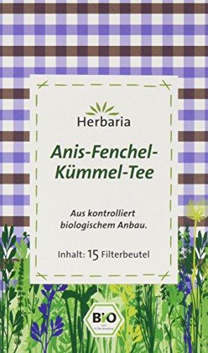 Herbaria Anis-Fenchel-Kümmel-Tee 15FB , 2er Pack (2 x 30 g) - Bio