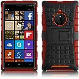 Lumia 830 Hülle, JAMMYLIZARD [ ALLIGATOR ] Doppelschutz Outdoor-Hülle für Nokia Lumia 830, ROT