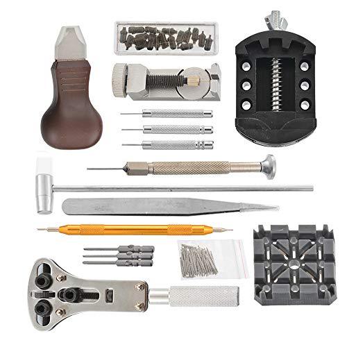 lchde Uhrenwerkzeug Set 136tlg Uhrmacherwerkzeug Armband Uhren Reparatur Werkzeug Tasche Watch tool in Nylontasche Reparatur Set