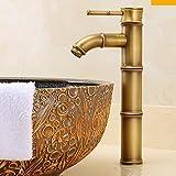 bathroom taps SCLOTHS SCLOTHS Grifo Lavabo de Baño Estilo Retro Moderno Cobre un Solo Agujero Caliente y Fría Mezclador Lavabo