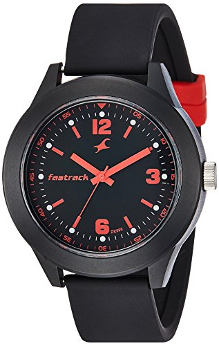 Fastrack Analog Black Dial Unisex Watch-NG38003PP05CJ