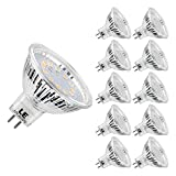 LE 10 Pack GU5.3 MR16 LED Light Bulbs, 35W Halogen Bulbs Equivalent, 3.5W, 12V AC/DC, 280lm,120° Beam Angle, Warm White 2700K, Non-Dimmable
