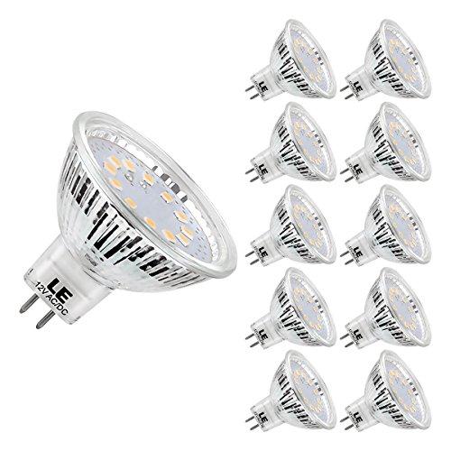 LE 10er GU5.3 MR16 LED Lampen 3.5W 12V, ersetzt 35W Halogenlampen, 280lm Warmweiß 2700 Kelvin 120 ° Abstrahlwinkel LED Birnen LED Leuchtmittel