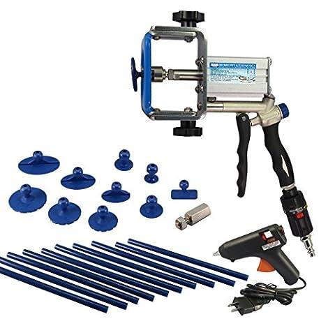 Coupe Outils Air Petit Hail dent Dommages Kit de réparation extracteur avec onglets Lot de 10Colle et bâtonnets de colle Kit