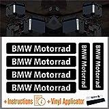 6pcs BMW Motorrad Reflektierende Aufkleber R 1200 1150 F 800 650 F700 GS A R1200GS R1200 Touratech Motorcycle Aluminium Panniers Seitentaschen Top Case (Black)