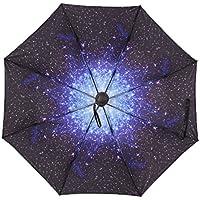Plegable resistente al viento paraguas fuerte abierto cerca compacto plegable Vented paraguas para lluvia viaje compacto