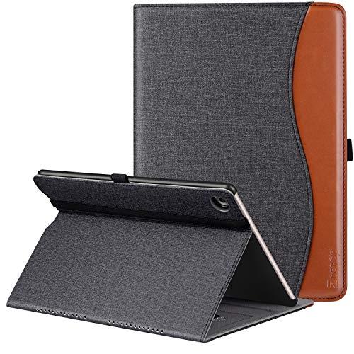 Ztotop Hülle für Huawei MediaPad M5 /M5 Pro 10.8 Zoll 2018, Premium Kunstleder Leichte Case mit Auto Schlaf/Wach Funktion und Pen Halter, für Huawei MediaPad M5 10.8 Zoll 2018 Modell, Denim Schwarz