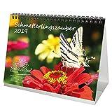 Calendrier de table en forme de papillon – Format A5 – Calendrier 2019 – Papillon – Fleurs – Couleur – Edition de Seelenzauber