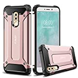 J&D Case Compatible for Huawei Honor 6X Case, Heavy Duty [ArmorBox] [Dual Layer] Shock Resistant Hybrid Protective Rugged Case for Huawei Honor 6X Case - Rose Gold