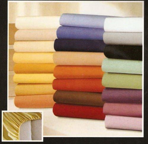 JERSEY / BAUMWOLL Spannbettlaken Spannbetttuch Farbe Anthrazit 90x100-100x200