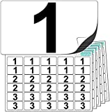 Premium Plastic Number Stickers 1 to 10 (10 of each number +20 Blank Labels). Glossy, Ultra Durable Label Stock. Suitable For Outdoor Use. 100% Waterproof. Free UK Delivery.