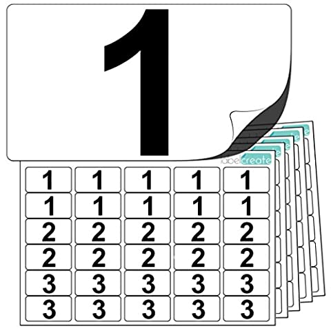 Premium Plastic Number Stickers 1 to 10 (10 of each number +20 Blank Labels). Ultra Durable Label Stock. Suitable For Outdoor Use. 100% Waterproof. Free UK