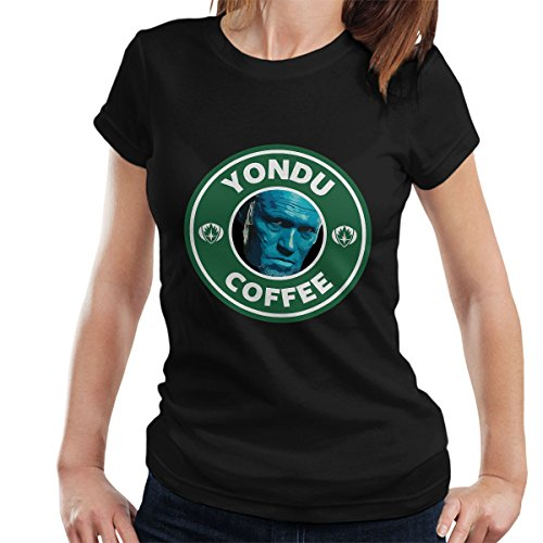 Guardians Of The Galaxy Yondu Coffee Starbucks Women's T-Shirt Black