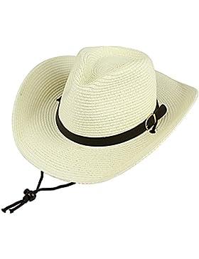 TININNA Uomo Moda Cappello da cowboy Cappello di estate Cappello di paglia Cappello della spiaggia Berretto da...