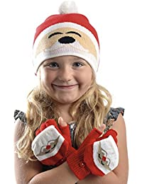 Ensemble de gants et de gants de Noël pour filles - 3 modèles au choix