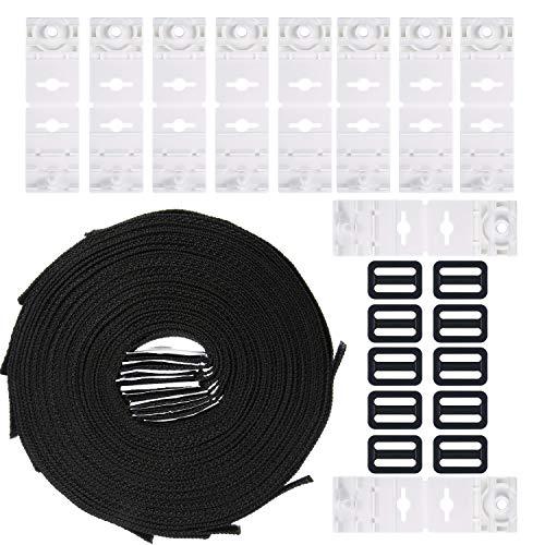 Tatuo Haltebänder, 10-er Set Befestigungsbänder & Klammern Ersatzteil Zubehörteile für fahrbares Aufrollsystem, für Pool-Planen/Abdeckungen Zubehör