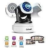 OCDAY Wlan IP Sicherheits kamera 720P FHD WiFi Wireless Überwachungskamera mit 350°/100°Schwenkbar Bewegungserkennung mit Home Baby Monitor 2-Wege Audio und Nachtsicht Funktion unterstützt Fernalar