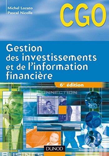 Gestion des investissements et de l'information financière - 6e éd. : Manuel (0 t. 1)