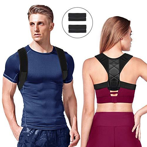 Sylanda Haltungskorrektur Geradehalter Schulter Rücken Verstellbare Größe Schultergurt Rückenbandage Rückenstütze Haltungsbandage Haltungstrainer für Damen und Herren, Gepolsterte Gurte