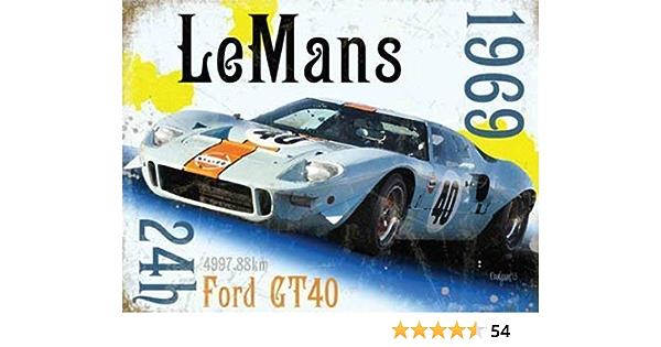 Gulf Race Car Fridge Magnet Le Mans 24hr 1969 Winner Ford GT40