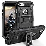 Coque iPhone 7, BEZ Coque Etui Housse Antichoc Militaire [Tough Armor] Heavy Duty Shock Proof Survivor Protective Housse Pour iPhone 7 - Noir