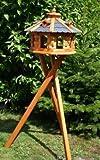 Genial 8-plaza Casa del pájaro, Casa pájaro con soporte azul y Buhardillas tratadas Tipo 6
