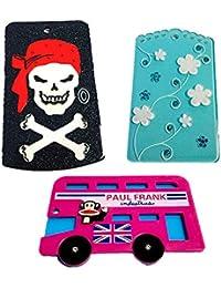 ZARAPOP - Llavero – Tarjeta – Bus – crédito – Club – Pack 3 Unidades. Incluye Calavera, Flores, Bus London