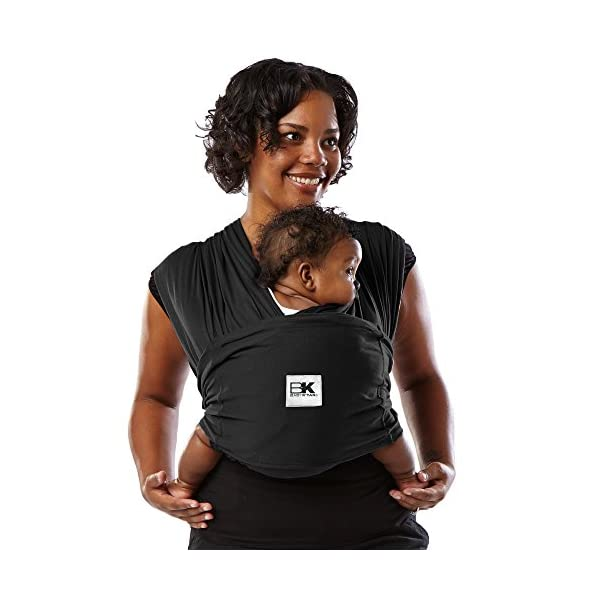Baby K'Tan Baby Cotton Carrier (Large, Black) Baby Ktan Easy to use and put on: NO WRAPPING INVOLVED.  6 positions to conveniently carry baby & toddlers from 8 lbs to 35 lbs 100% soft natural cotton with unique one-way stretch Unique HYBRID double-loop design holds baby securely and evenly distributes weight across back and both shoulders. Washer & dryer safe 4