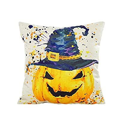 Happy Halloween Pillow Cases, Longra® Dyeing Sofa Bed Home Decor Pillow Cover Cushion Cover produced by Longra® - quick delivery from UK.