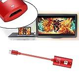 HKFV USB 3.1 Typ C USB-C zu HDMI 4K HDTV Adapterkabel für Samsung S9 für Macbook Typ C zu HDTV-Verlängerungskabel HD Mobile Projektor Linie USB3.1 Typ C zu HDMI Konverter Adapter (Rot)