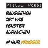 Visual Words: TypoArt Geschenkbuch mit lustigen Sprüchen