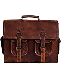 100% Genuine Leather Laptop Bag For Men/Office Briefcase For Men/Designer Leather Briefcase/Hand Made And Hand... - B0791KQ8W2