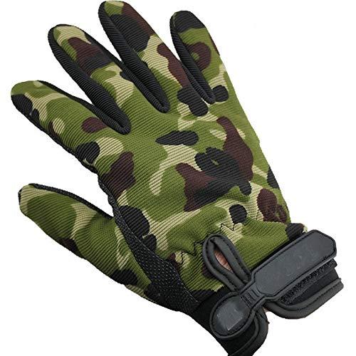 L-MEIQUN, Winter Radfahren Handschuhe Atmungsaktive Männer Sport Fahrrad Moped MTB Angeln Wandern Reise Gants Velo Taktische Vollfingerhandschuhe (Color : Camouflage, Size : 9)