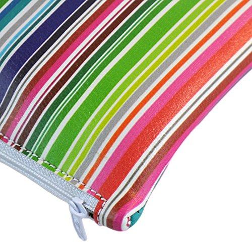Derriereitalia Pochette_DL_4_ COLOURFULSTRIPES - Riñonera Multicolor Rosso, Giallo, Verde, Blu, Rosa, Arancio 18.5 x 14.5 x 2 cm