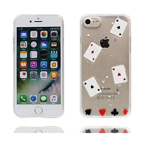 iPhone 6s Plus Custodia, iPhone 6 Plus Copertura Premium TPU Prezzo basso trasparente al silicone in iPhone 6S Plus case [Slim-Fit] [assorbimento di scossa]- conghiglia stelle # 7