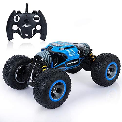SGILE 4WD Ferngesteuertes Auto, 1:16 RC Stunt Auto Geländewagen für alle Gelände, 2,4 GHz Off-Road Rock Crawler Monstertruck, Race Buggy Auto Hobby Auto für Kinder Jungen Mädchen Erwachsene Geschenk*