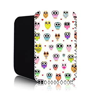 CUTE OWLS Pattern [WHITE] NEW APPLE IPHONE 5 Shock Resistant Neoprene Mobile Phone Case, Cover, Pouch