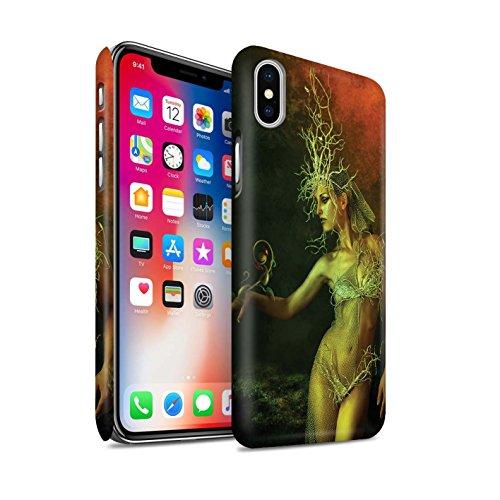 Offiziell Elena Dudina Hülle / Matte Snap-On Case für Apple iPhone X/10 / Rote Kirschen Muster / Einer mit Natur Kollektion Waldkönigin