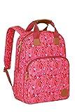 Lässig Vintage Backpack Wickelrucksack/Wickeltasche inkl. Wickelzubehör, Paisley pink