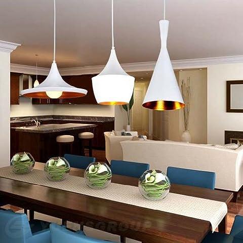 LightInTheBox Pendant,3 Light, Industrial White Iron Aluminum Spinning, Modern Home Ceiling Light Fixture Flush Mount, Pendant Light Chandeliers