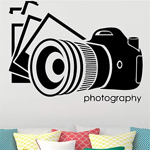 Alte Kamera Wandkunst Aufkleber Wandaufkleber DIY Abziehbild Zubehör Vinyl Wasserdichte Wandaufkleber für Wohnzimmer Wandtattoo kaffee M 30 cm X 44 cm
