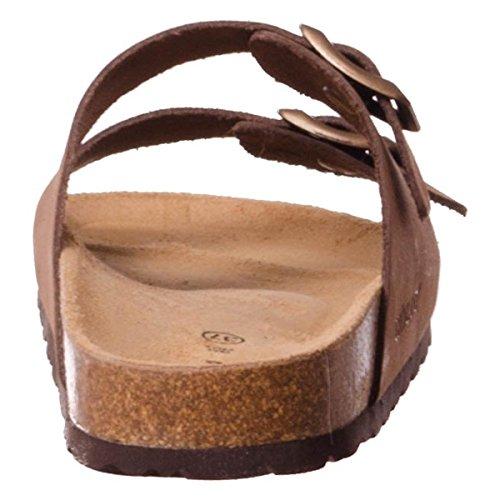 Grunland Sara donna, pelle liscia, sandali Marrone