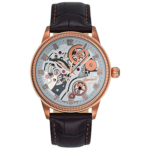 Ingersoll Herren Analog Automatik Uhr mit Leder Armband IN7220RWH