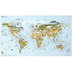Awesome Maps   SURFTRIP MAP   Carte du monde du surf   réinscriptible   97,5x56 cm  Englisch