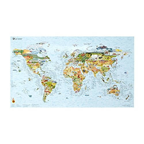 Awesome Maps | SURFTRIP MAP | Carte du monde du surf | réinscriptible | 97,5x56 cm | Englisch