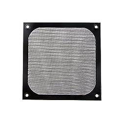 Aluminum Alloy Stainless Mesh Fan Filter Dust Guard for PC Case Fan Black - 120mm*120mm*2mm